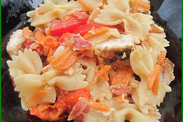 Salade de farfalle à l'italienne