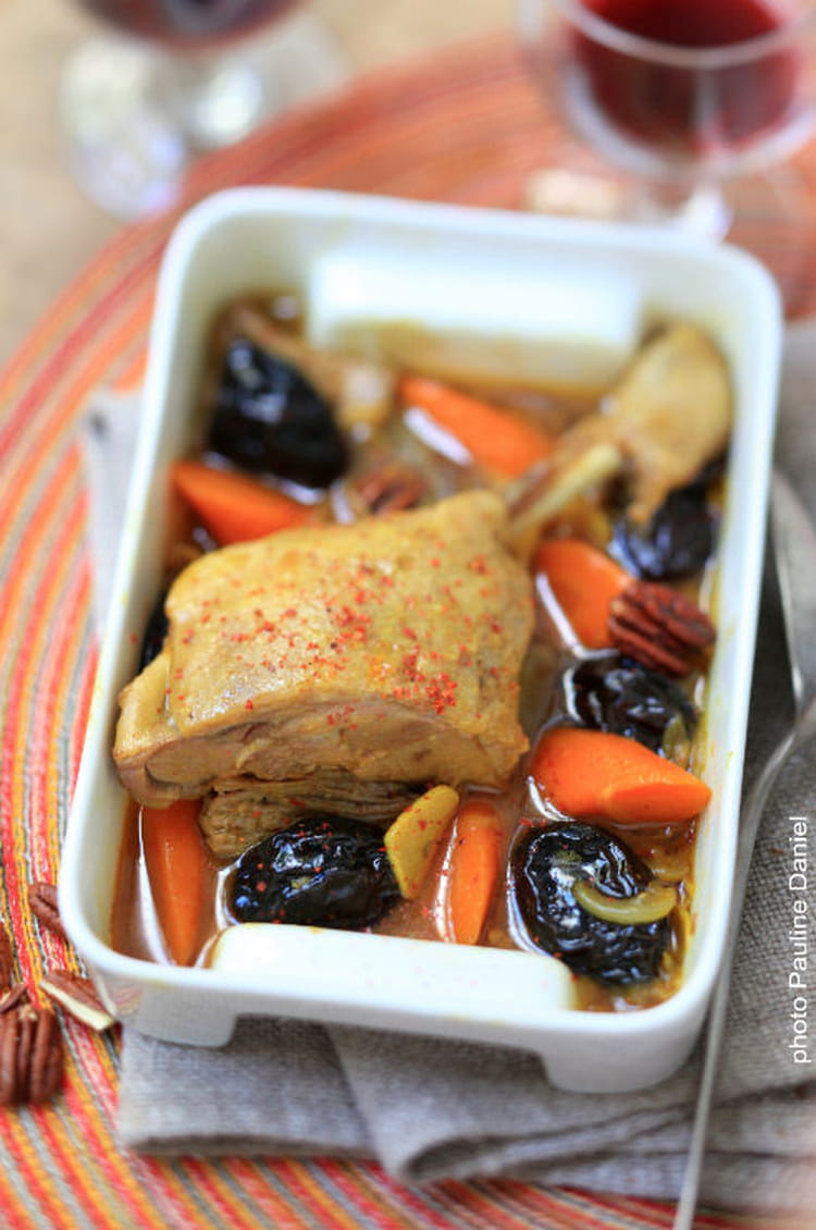 Recette de tajine de cuisse de canard pruneaux piment d - Cuisiner cuisses de canard ...