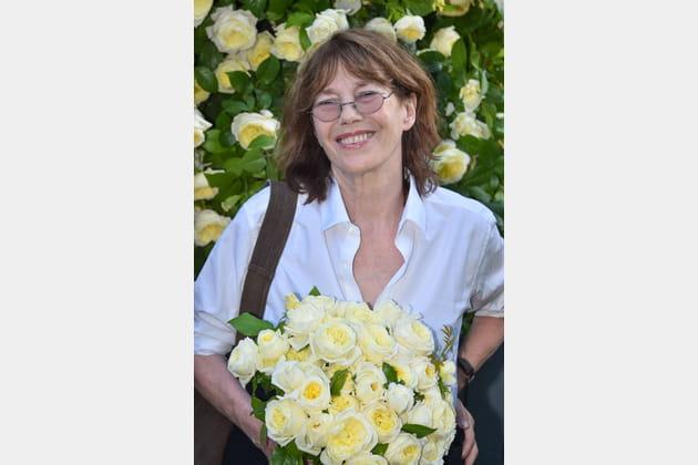 Jane Birkin inaugure la rose qui porte son nom au jardin des Tuileries, 2015