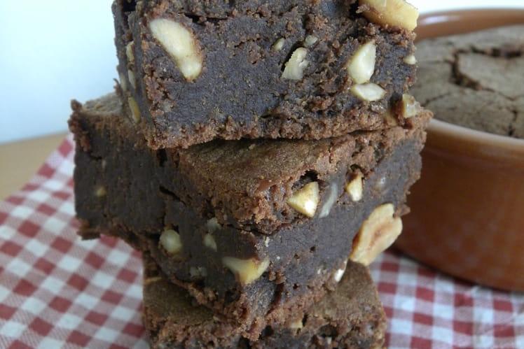 recette de brownies aux cacahu tes et la cr me de marron la recette facile. Black Bedroom Furniture Sets. Home Design Ideas