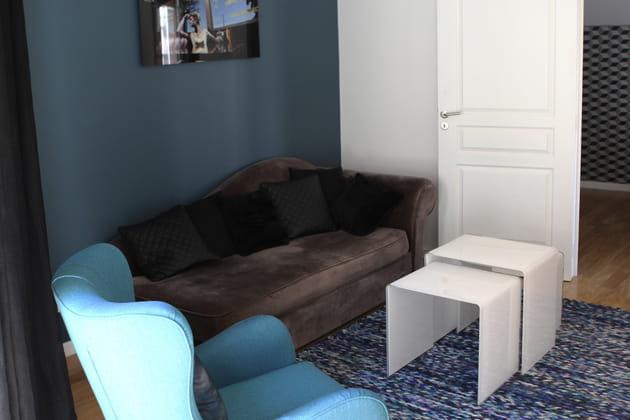 chic du bleu canard et du blanc. Black Bedroom Furniture Sets. Home Design Ideas