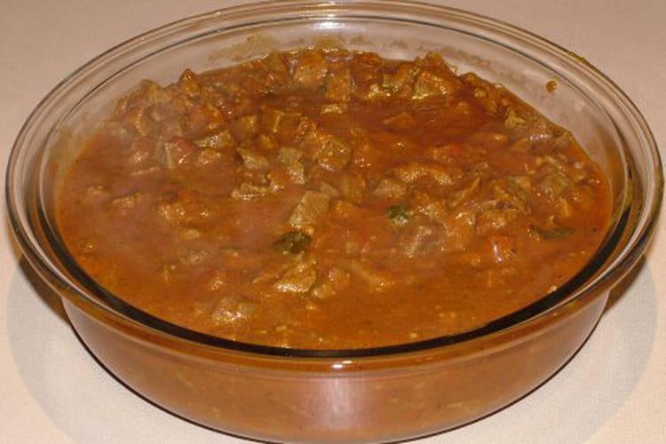 Boeuf au curry à la mauricienne