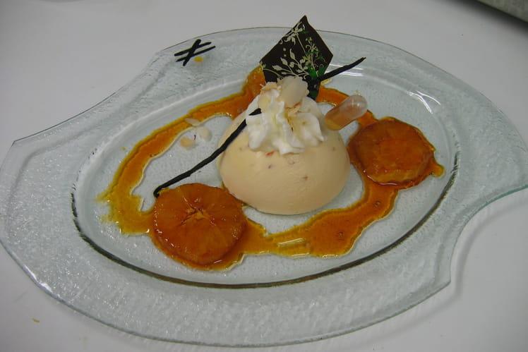 Parfait semi-glacé au grand-marnier et orange confite