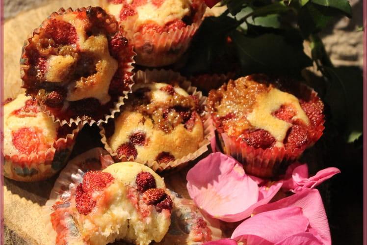 Layer muffin fraise rhubarbe et confiture de lait