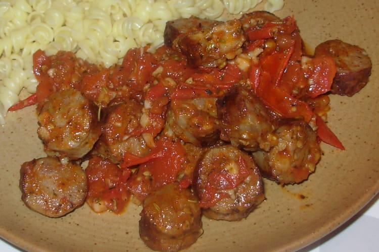 Mijoté de saucisse à la tomate