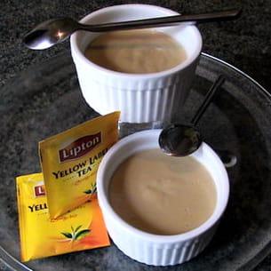 crème au thé et à l'arôme d'orange