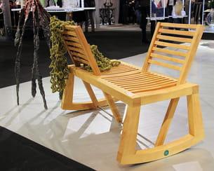 banc double view par l'ébénisterie d'art voilliot - design chloé de la chaise