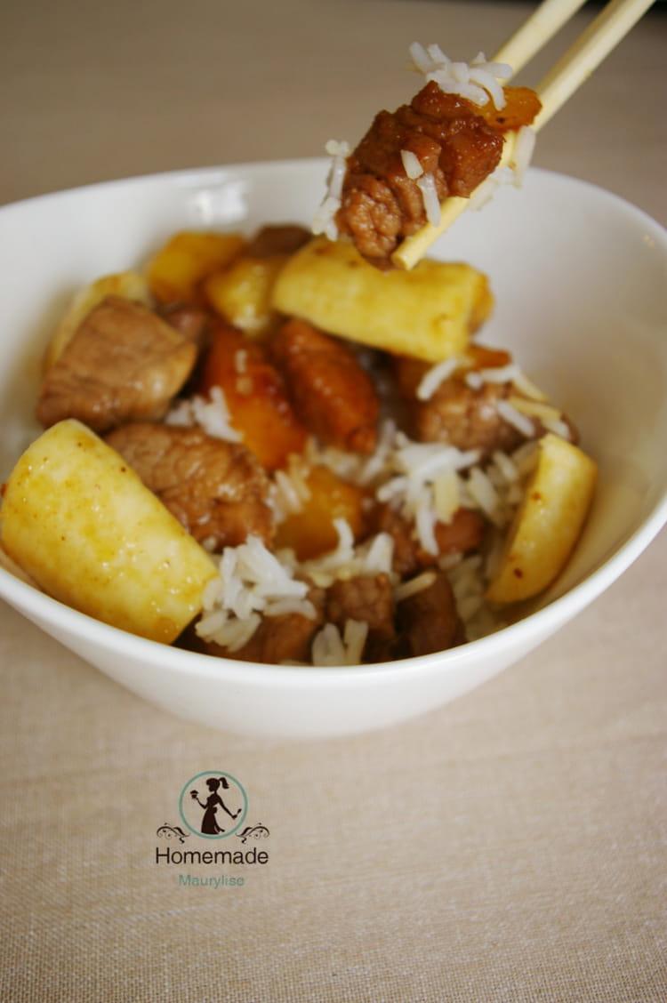 Recette De Filet Mignon De Porc Au Miel Pommes Et Bananes La