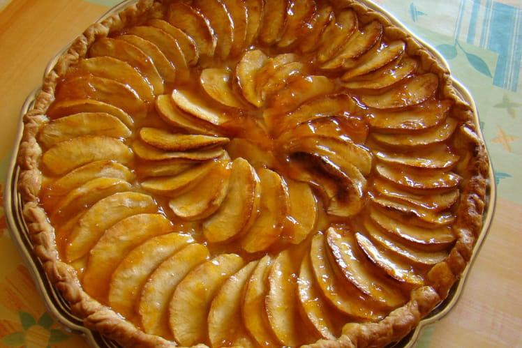 Tarte aux pommes dorées au miel