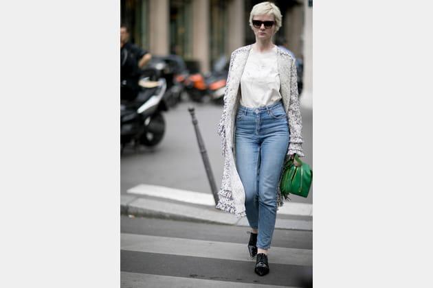 Street style à Paris : le mom jeans