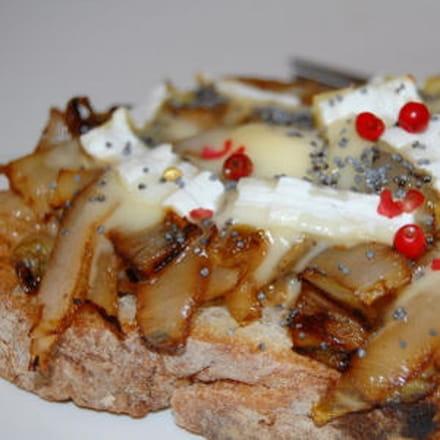 tartine d'endive au fromage