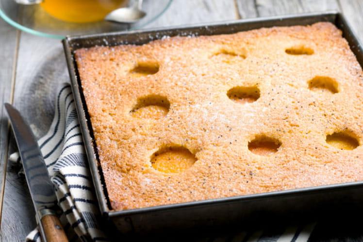 Gâteau aux abricots et graines de pavot