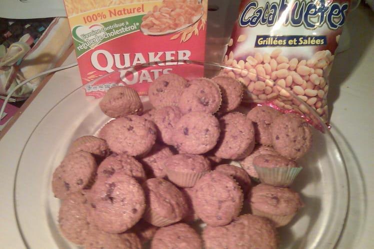 Crunchy muffins (avoine, cacahuètes et chocolat)