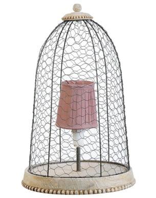 Lampe à poser cage à oiseau