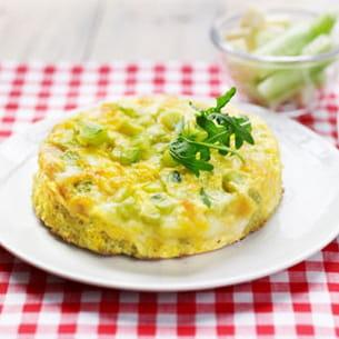 omelette de concombre et tomme
