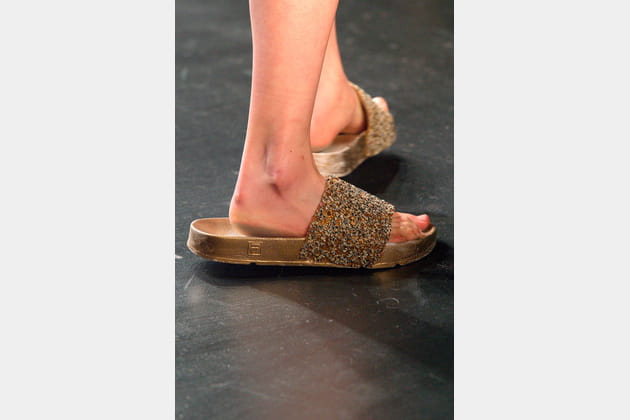 La maxi sandale du défilé Baja East