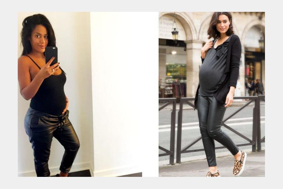 Amel Bent, un pantalon en cuir