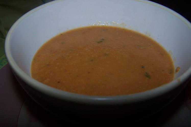 Velouté de chou-fleur au jambon