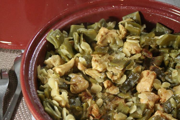Tajine poulet, amandes et cocos plats