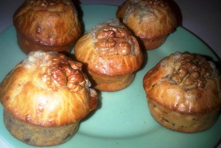 Muffins aux noix et Saint Agur Crème