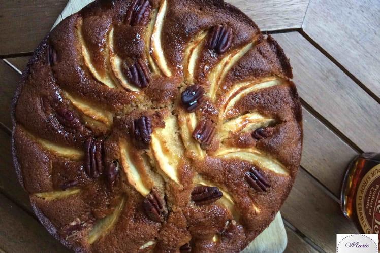 Gâteau automnal aux pommes et noix de pécan