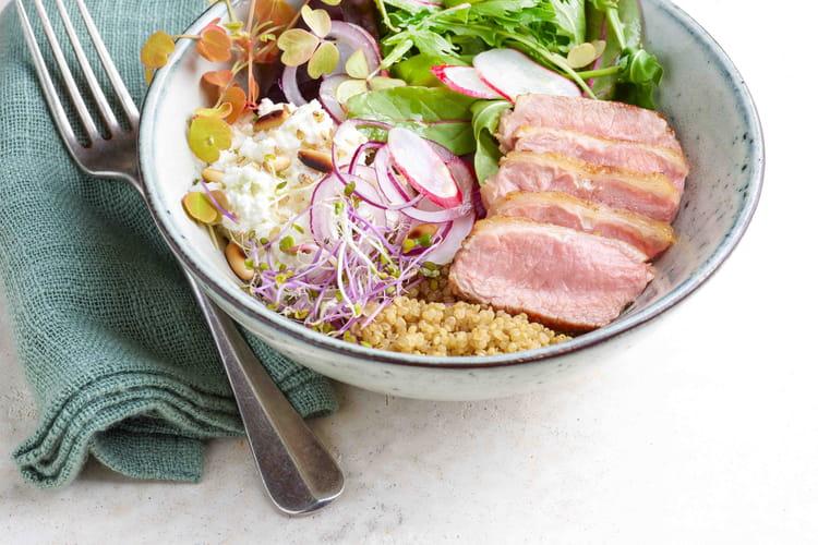 Petite salade de noisette d'agneau