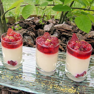 verrines coco et fruits rouges
