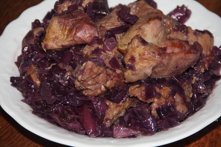Recette de saut de veau au chou rouge - Cuisiner un chou rouge ...