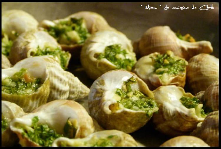Recette de bulots farcis la recette facile - Cuisiner les escargots de bourgogne ...