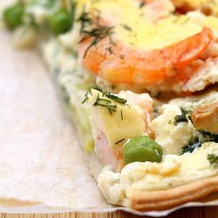 tarte crevette-ricotta et courgettes