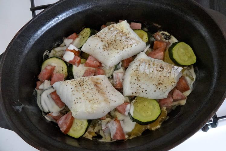 Potée bretonne aux saucisses et poisson