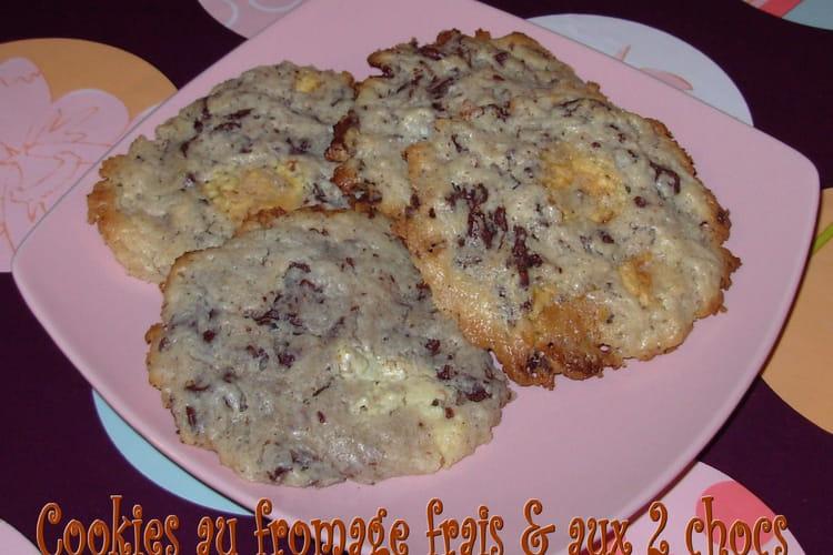 Cookies au fromage frais et aux deux chocolats