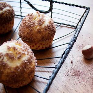 muffins crumble au coeur nutella