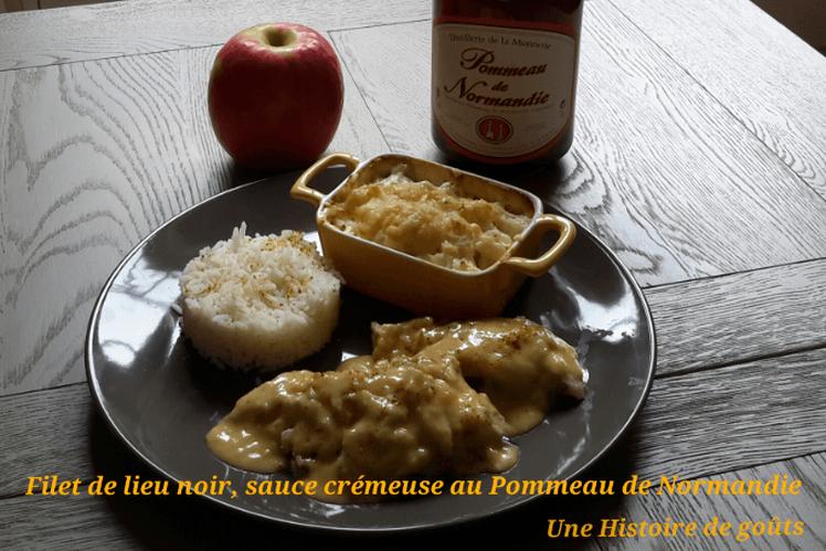 Filet de lieu noir, sauce crémeuse au Pommeau de Normandie