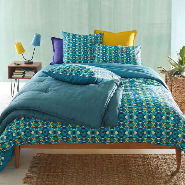 la parure de lit tropicale. Black Bedroom Furniture Sets. Home Design Ideas