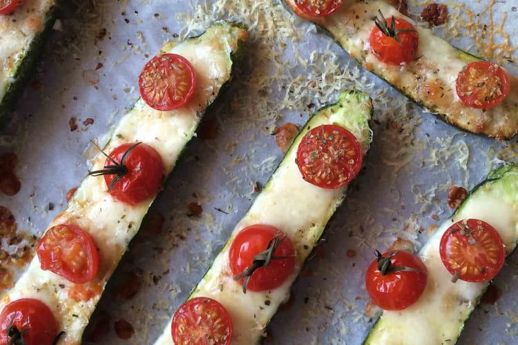 Courgettes façon pizza ultra légère
