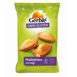 madeleines aux oeufs sans gluten de gerblé