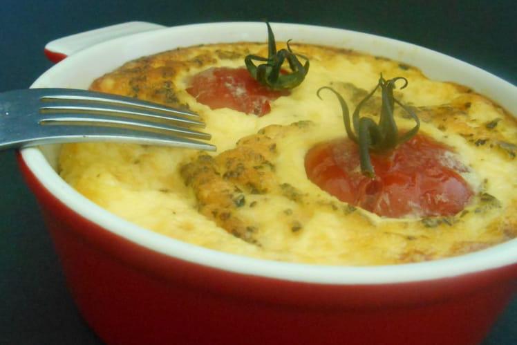 Clafoutis aux tomates et mozzarella