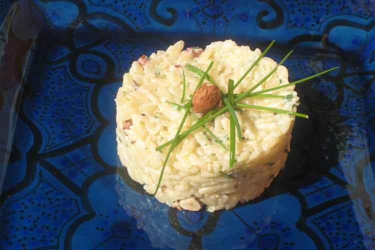 Timbales de pâtes aux noisettes façon risotto