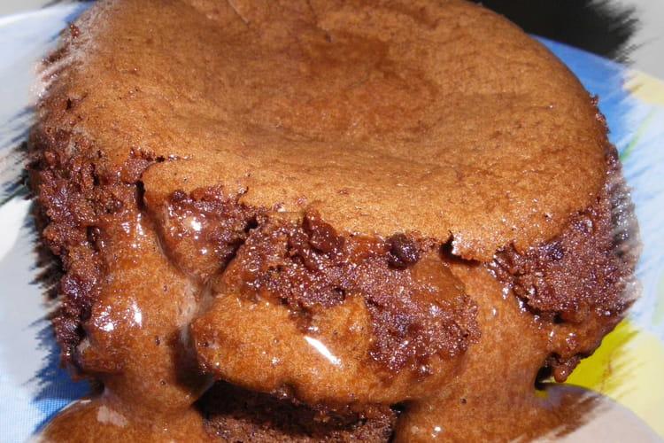 Moelleux coulant chocolat, éclats de marrons