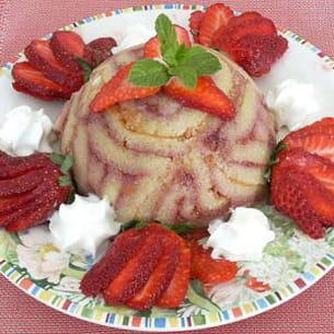charlottines marbrées aux fraises