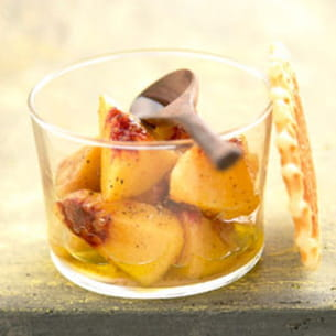 salade de pêches à l'huile d'olive