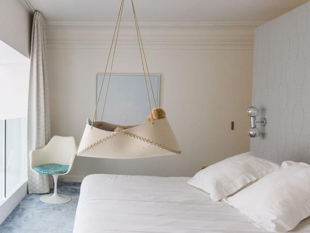 Chambre design blanche