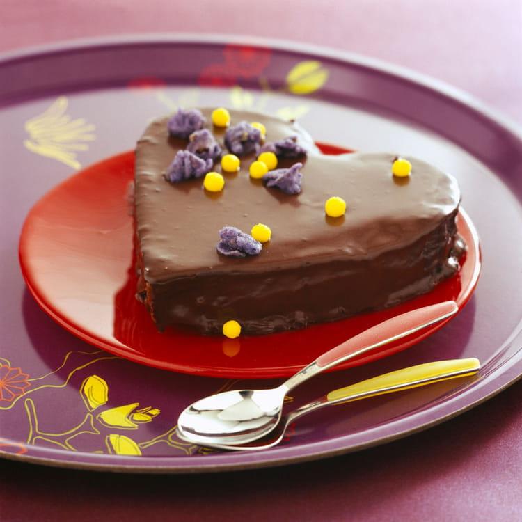 Coloriage Coeur Chocolat.Gateau Coeur Tendre Au Chocolat