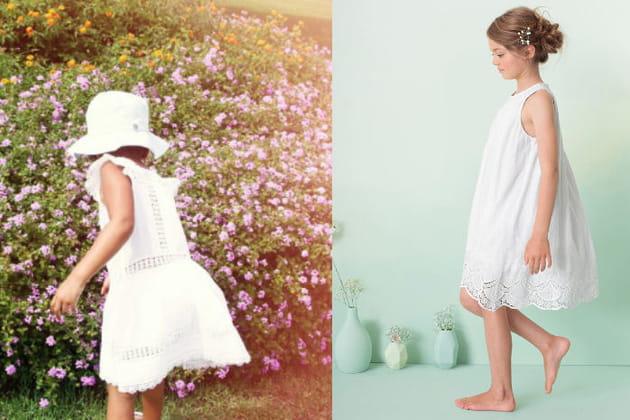 Une robe blanche pour la fille de Beyoncé