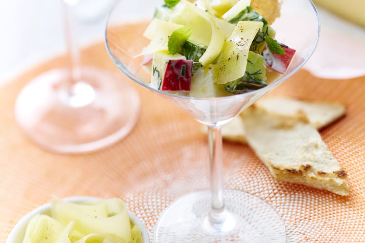Appenzeller façon tzatziki pommes, concombre et menthe