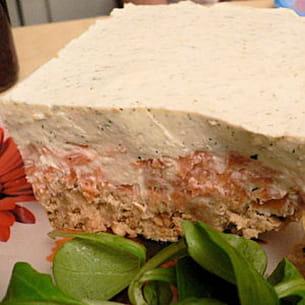 cheesecake citronné à la truite fumée et à l'aneth
