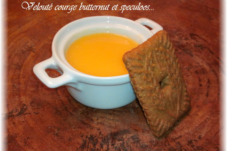 Velouté courge butternut et speculoos