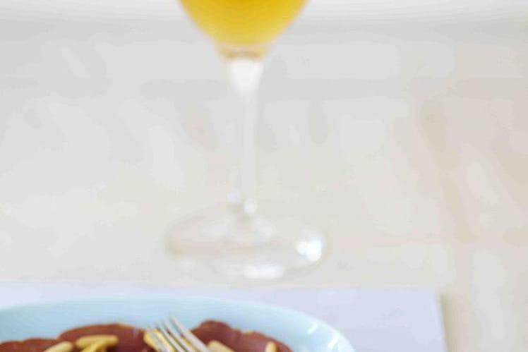 Carpaccio de Bresaola aux artichauts et parmesan