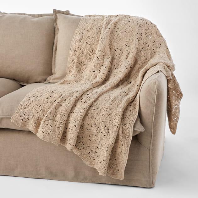 plaid en crochet. Black Bedroom Furniture Sets. Home Design Ideas